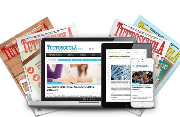 pc, tablet, smartphone e riviste con copertina tuttoscuola.com